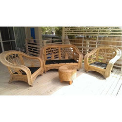 Genial Bamboo Sofa Set