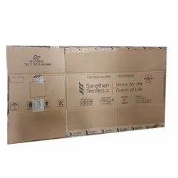 Rectangular Single Wall 3 Ply Second hand Corrugated Box, 743x365x240 Mm