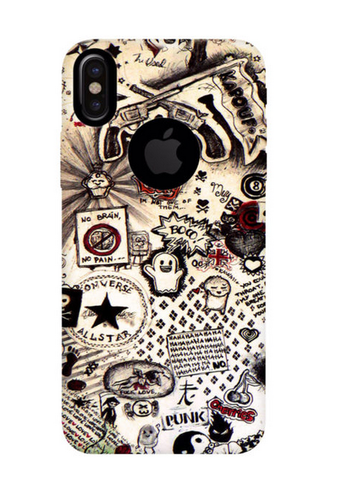 online store 769bd 4314b Street Punk Phone Case For Iphone X Logo Cut
