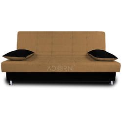 Adorn India Alyssum 3 Seater Sofa Cum Bed (Camel & Black)