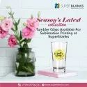 Sublimation Printable Blank Clear 16oz Glass Tumbler