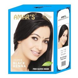 Amar Black Henna Hair Color Dye, Pack Size: 6 Pouch 10 gm Each, for Personal