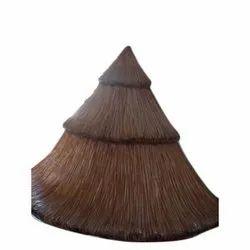Brown Triangular FRP Hut Canopy Sculpture for Exterior Decor, Size: 5 Feet