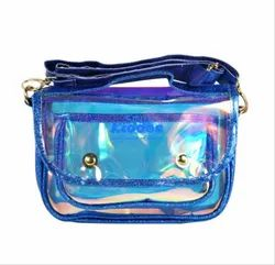 Smily Kiddos Blue Fancy Transparent Side Sling Bag
