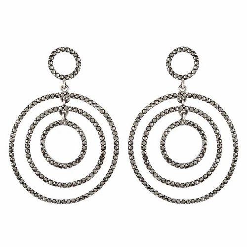 Aashirwad Jewellers Women 925 Sterling Silver Marcasite Earring For S