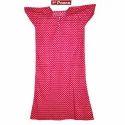 Panna Cotton Red Designer Ladies Night Gown