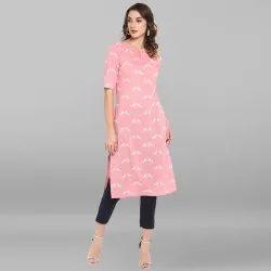 Pink Pure Cotton Kurta