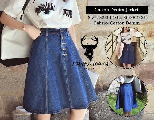 0e80bb772f 32-34 (xl), 36-38 (xxl) Denim Blue Cotton Denim Skirt, Rs 395 /piece ...