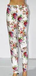 Ladies Cotton lycra Trouser