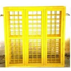 Frame Without Glass Primer Finish Color Coated Grill Window, Material Grade: Gl