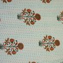 Kantha Quilt Floral Print Cotton