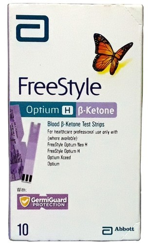 Plastic Abbott Freestyle Optium Ketone Strips 10t, For Clinical