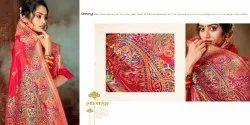 Lifestyle Wedding Wear Art Silk Saree, Machine Made, 6.3 m (with blouse piece)