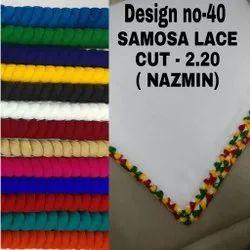 Nazamin Plain Crosio Lace Dupatta