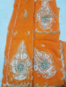 Orange Colour Saree