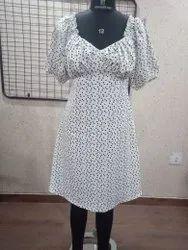 Ladies Printed Poly Dress