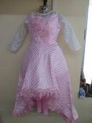 Pink Girls Gown