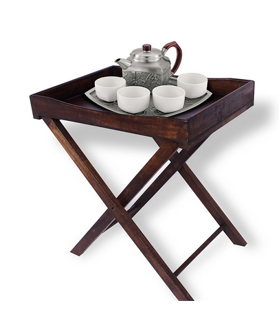 Home Sparkle Wooden Foldable Butler Tray (brown)