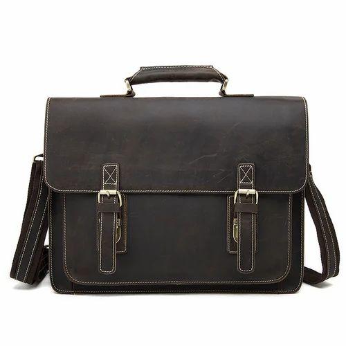 1d31cfa559ad Men's Genuine Vintage Leather Briefcase