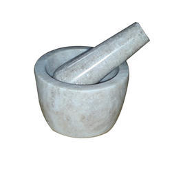 Brown Marble Mortar and Pestle