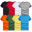 Mens Plain Casual Round Neck T Shirt