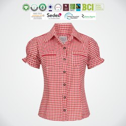 Natural Recycle Organic Cotton Ladies Half Sleeve Shirts