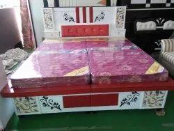 aadeshwar furniture Designer Doble Bed, Size: 6.6