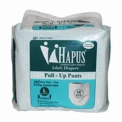 Unisex Hapus Pull-Up Diaper Pants Large 10's Pack, Waist Size: 41''-54''