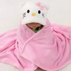 Little Cubs Pink Baby Hooded Bath Towel