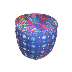 Indian Hand Made Nice Printed Cotton Pouf