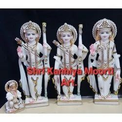 Beautiful Ram Darbar Marble Statue