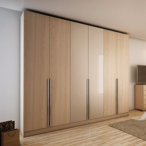 Brown Wooden Particle Board Wardrobe