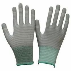 ESD PU Finger Stripe Gloves