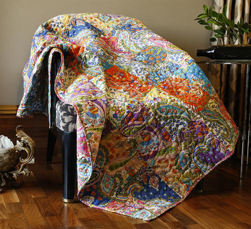 Rajrang Paisley Couch Throw Cotton Sofa Blanket Size 50x60 Inch
