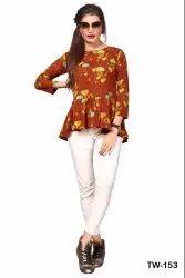 Sweety Party-3 Digital Printed Crepe Casual Wear Ladies Tops