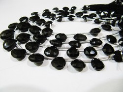 AAA Quality Natural Black Spinel Faceted Beads/ 9 to 13 mm