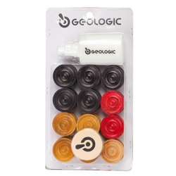 Geologic Carrom Coin Set with Powder