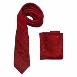 Red Tie Cufflinks Set