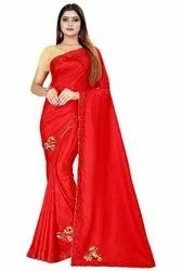 Designer Hot Fix Sana Silk Saree