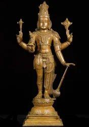 Bronze Lord Sathya Narayana 24 Inch Statue