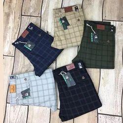 Kesari Exports Men Slim Fit Checked Formal Trousers