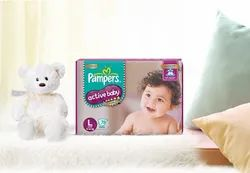 Pampers Premium Care Active Baby Diapers, Packaging Type: Packet
