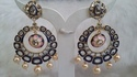 Kundan Meena Chand Bali Earring