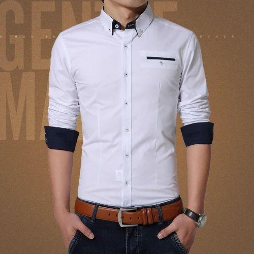 d6dc7ece4 Ethics Polyester Mens Party Wear Plain Shirt