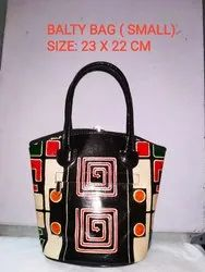 Printed Leather Small Bags, Size: 10x7 inch