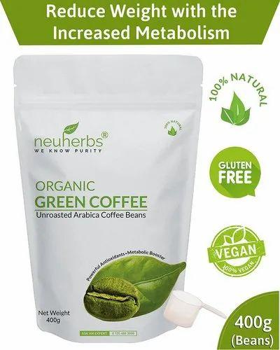 Neuherbs Organic Green Coffee Beans 400g ग र न क फ