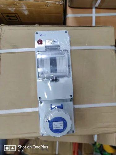 4p Mcb Enclosure With Panel Socket Ip67 Ksbcb4fn 16a At Rs