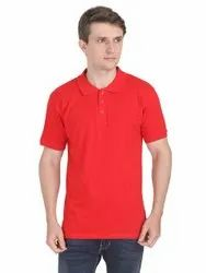Plain Cotton Polo Neck T Shirts