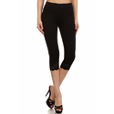 Ladies Black Capri