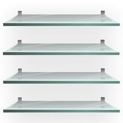 Silver Toughened Glass Shelf